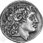 Coin showing Alexander the great