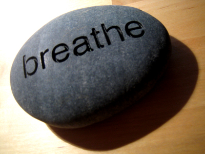 respiratory just breath on rock