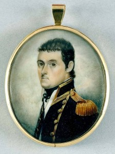 atercolour miniature portrait of British navigator Matthew Flinders, dated about 1800.