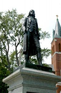 Bartlett's statue unveiled in 1888