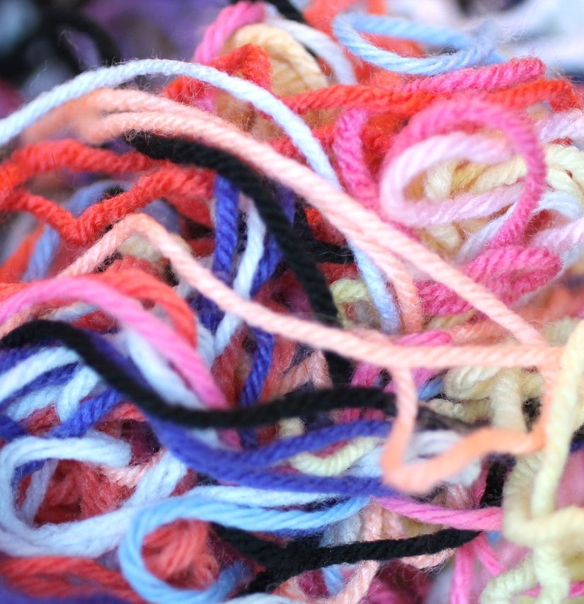 craftedbytw.com pile of yarn