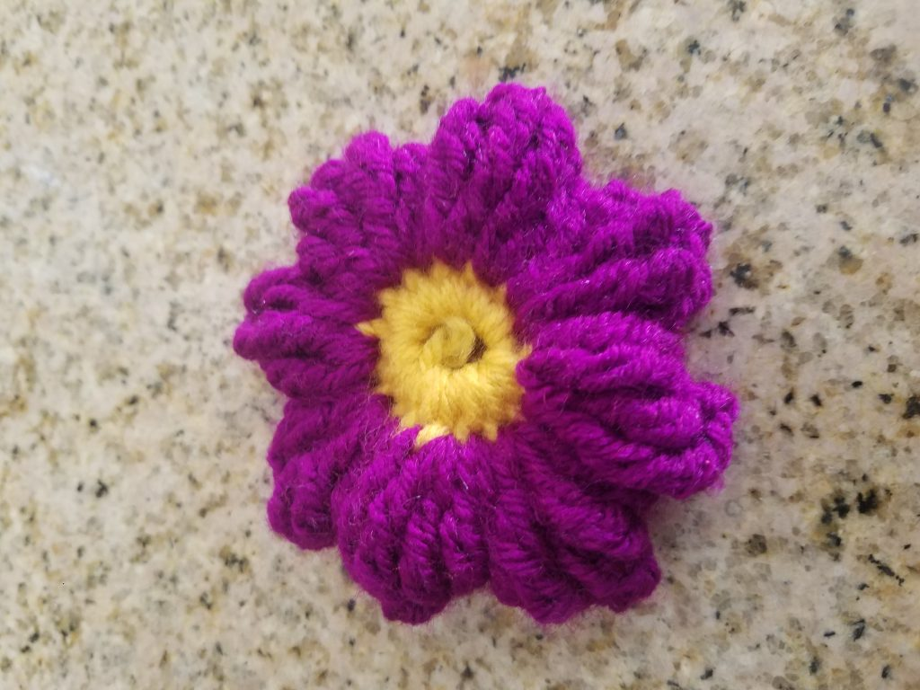 Crochet cluster flower www.craftedbytw.com